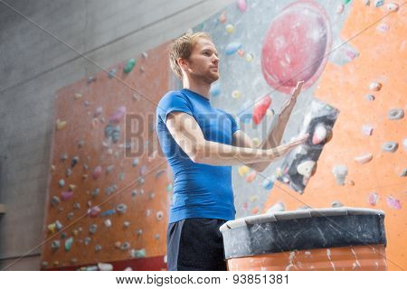 Working out in the gym