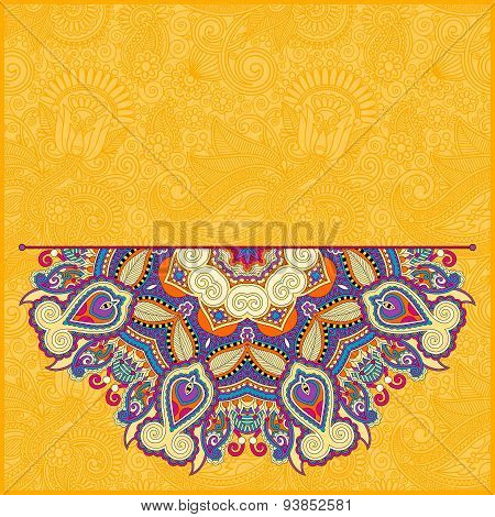 floral yellow pattern in ukrainian oriental ethnic style