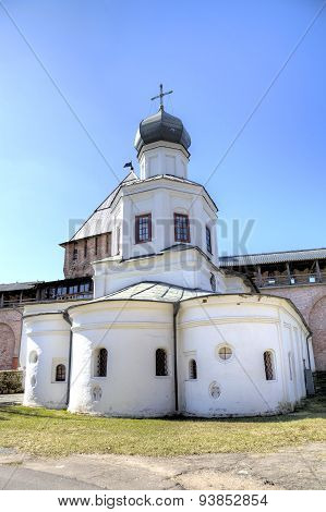 Church of the Intercession of the Holy Virgin. Veliky Novgorod, Russia
