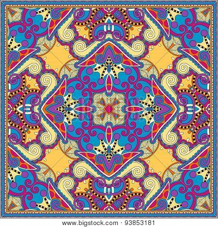 silk neck scarf or kerchief square pattern design in ukrainian s