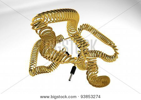 Wire made of gold.