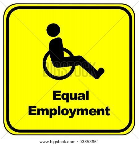 Equal Employment Sign