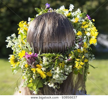 Swedish Midsummer Headgear Traditional