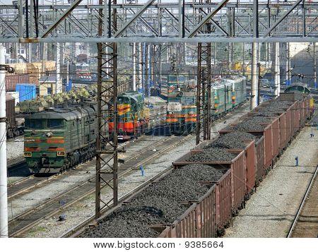 Carbón en vagones