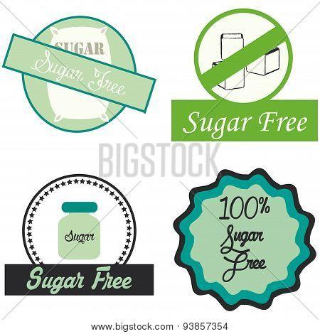 Set of sugar free labels