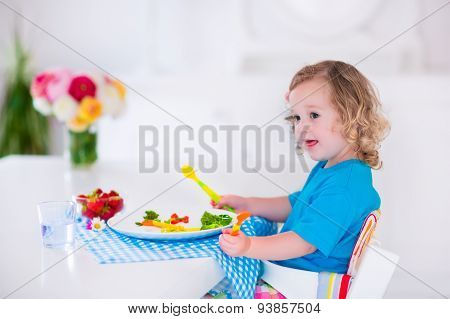 Little Girl Having Lunch
