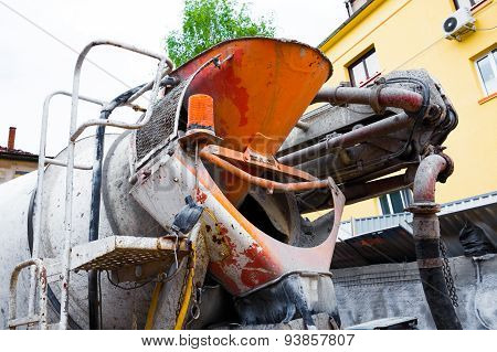 The Back Side Of Concrete Truck