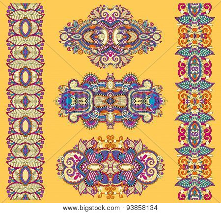 ornamental ethnic yellow floral adornment