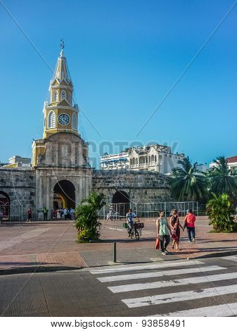 Entrance Of Historic Center Of Cartagena Colombia