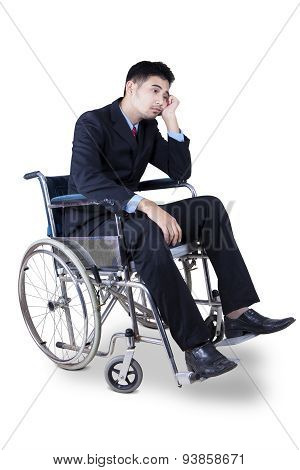 Disabled Entrepreneur Looks Sad