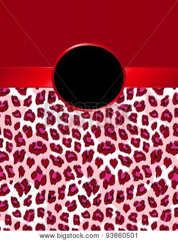 Bright Red Leopard Print With Rosette