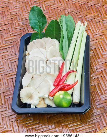 All Ingredents Of Tom-yum Koong. (thai's Food)