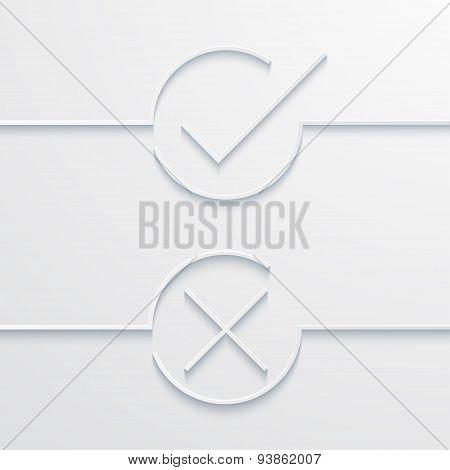 Vector modern white check mark