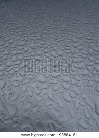Car Roof Water Droplets