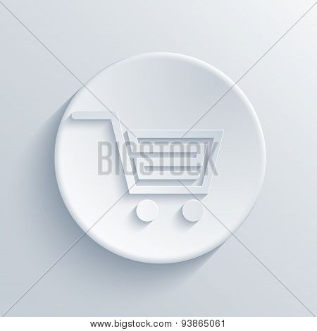 Vector modern light shopping circle icon