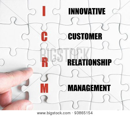 Last Puzzle Piece With Business Acronym Icrm