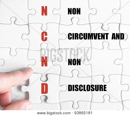 Last Puzzle Piece With Business Acronym Ncnd