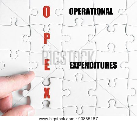 Last Puzzle Piece With Business Acronym Opex