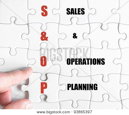 Last Puzzle Piece With Business Acronym Sop