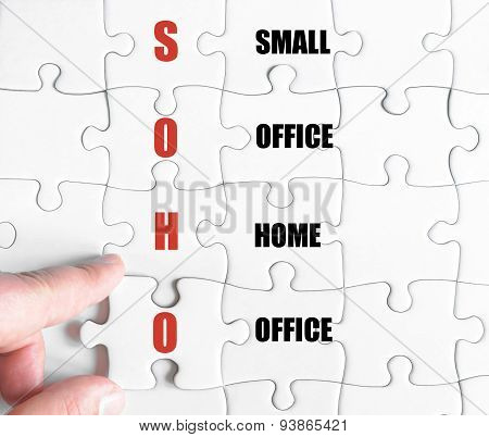 Last Puzzle Piece With Business Acronym Soho