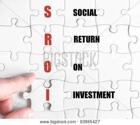 Last Puzzle Piece With Business Acronym Sroi