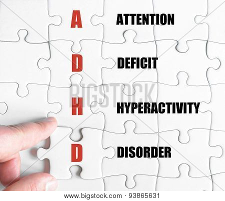 Last Puzzle Piece With Business Acronym Adhd