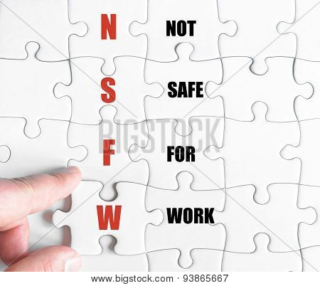 Last Puzzle Piece With Business Acronym Nsfw