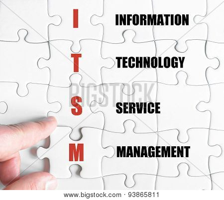 Last Puzzle Piece With Business Acronym Itsm