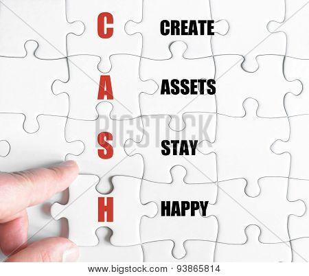 Last Puzzle Piece With Business Acronym Cash