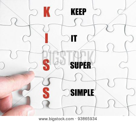 Last Puzzle Piece With Business Acronym Kiss