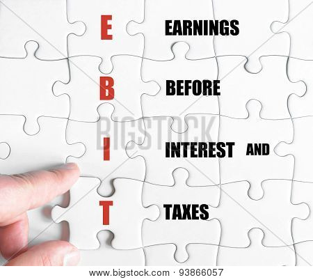 Last Puzzle Piece With Business Acronym Ebit