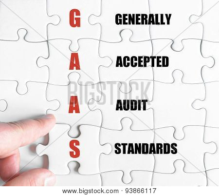 Last Puzzle Piece With Business Acronym Gaas