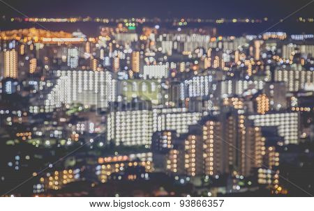 Blurred abstract background lights of beautiful Tokyo cityscape view