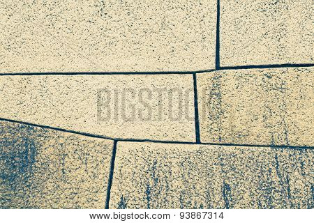 Old stone block wall background and texture