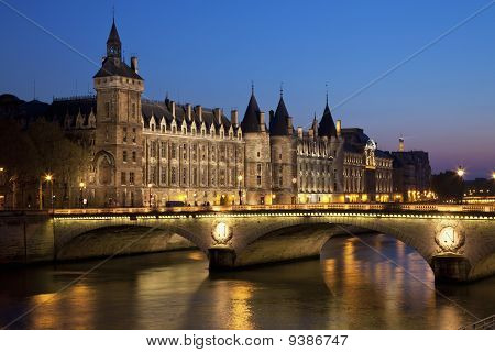 Castle Conciergerie And Bridge Of Change