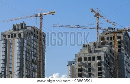 High-rise Buildings In Various Stages Of Completion