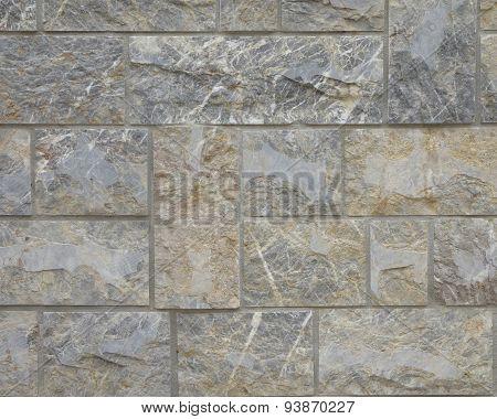 Cut stone wall close up