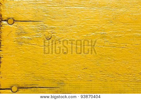 Painted Yellow Wooden Desk