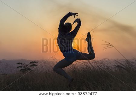 Dance Sunset Silhouette