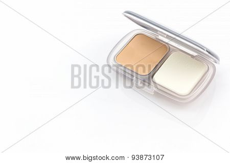 Makeup Powder In White Case.