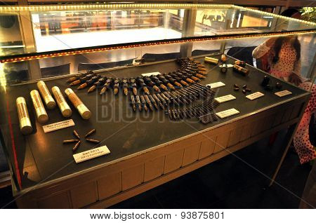 Weapons Exhibited In The War Remnants Museum In Saigon, Vietnam