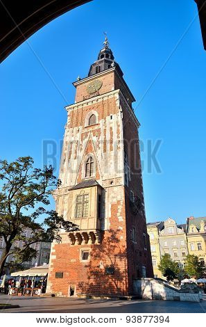 City Hall tower in Krakow.