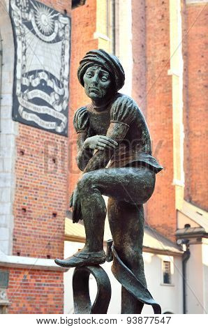 The statue of the Schoolboy the Cracovian student.