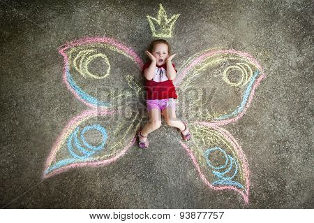 Little girl Butterfly, SURPRISE.