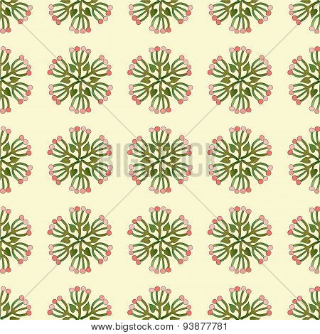 Vector Seamless Background With Floral Pattern