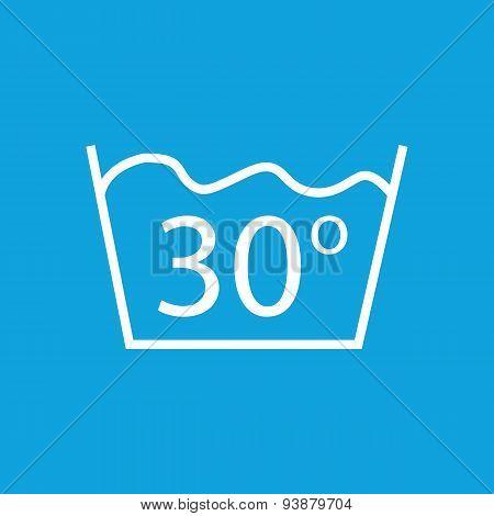 30 degrees wash icon
