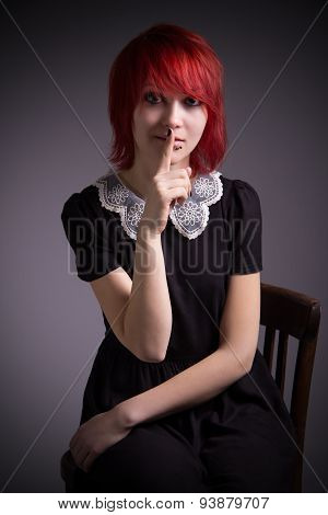 Red-haired Girl Calls For Silence.