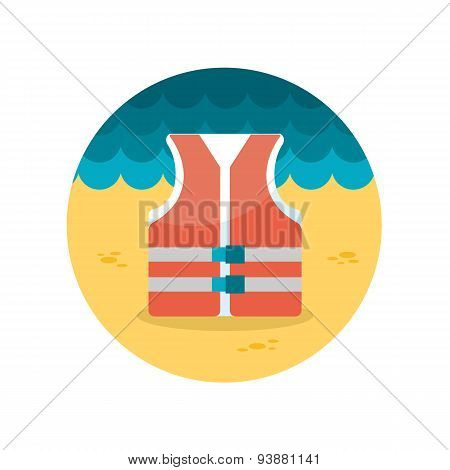 Lifejacket Flat Icon