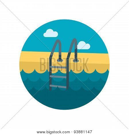 Swimming Pool Flat Icon