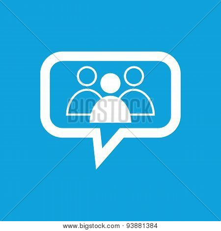 Group leader message icon